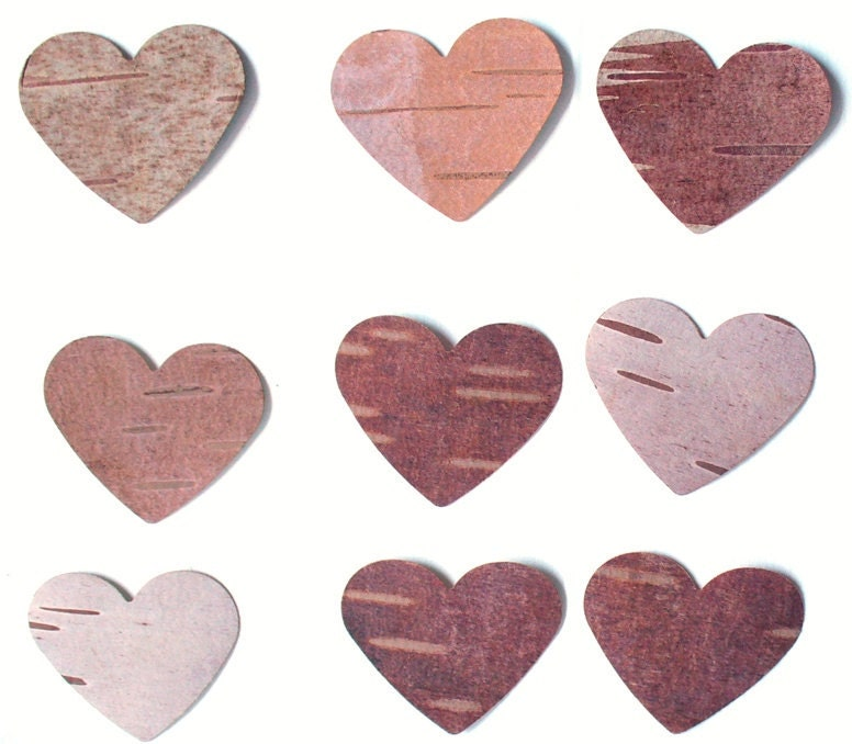 Birch Bark Heart Card MakingRustic Wedding Country WeddingWoodland
