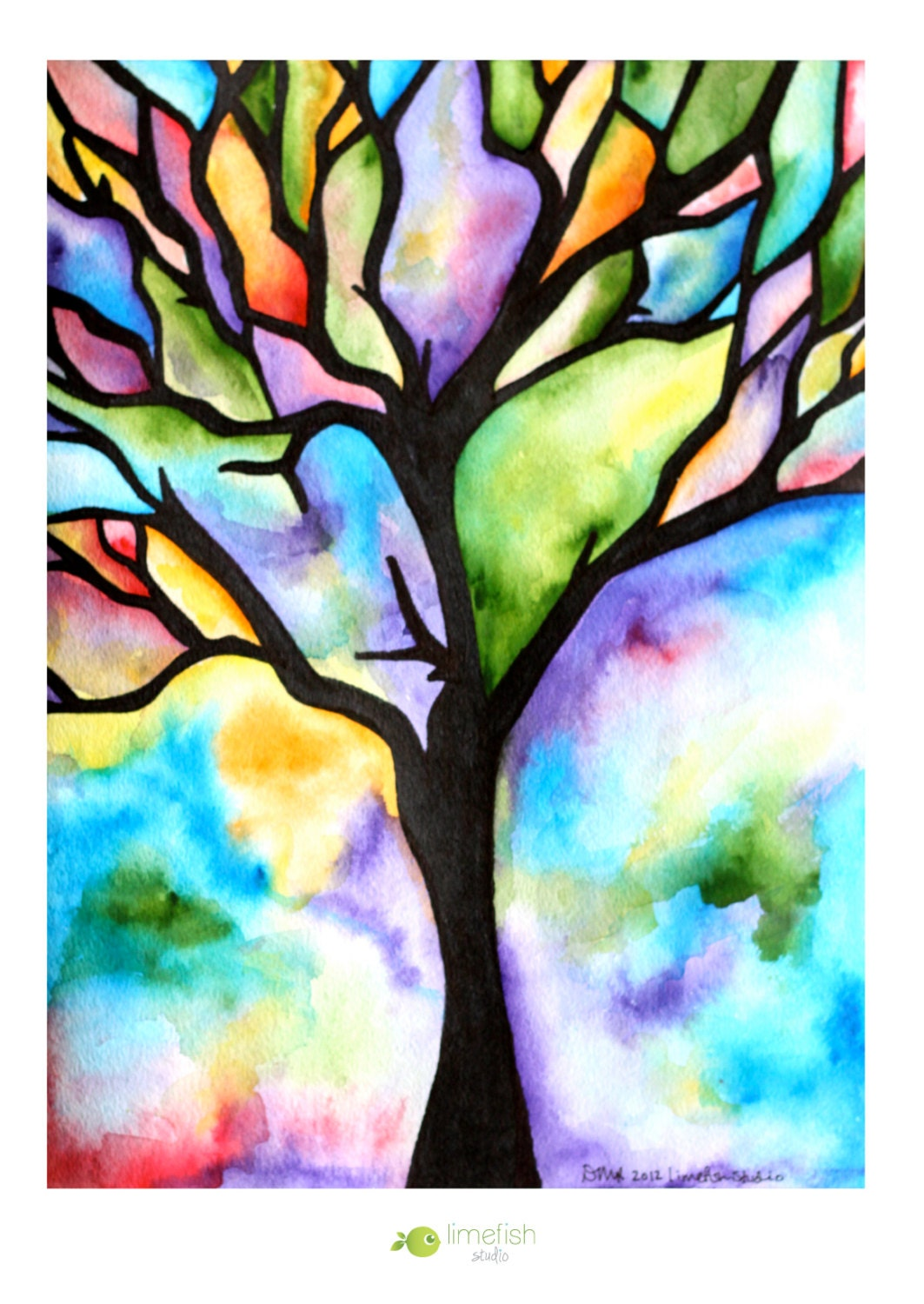 Recreation therapy ideas watercolor trees for Simple watercolor paintings for kids
