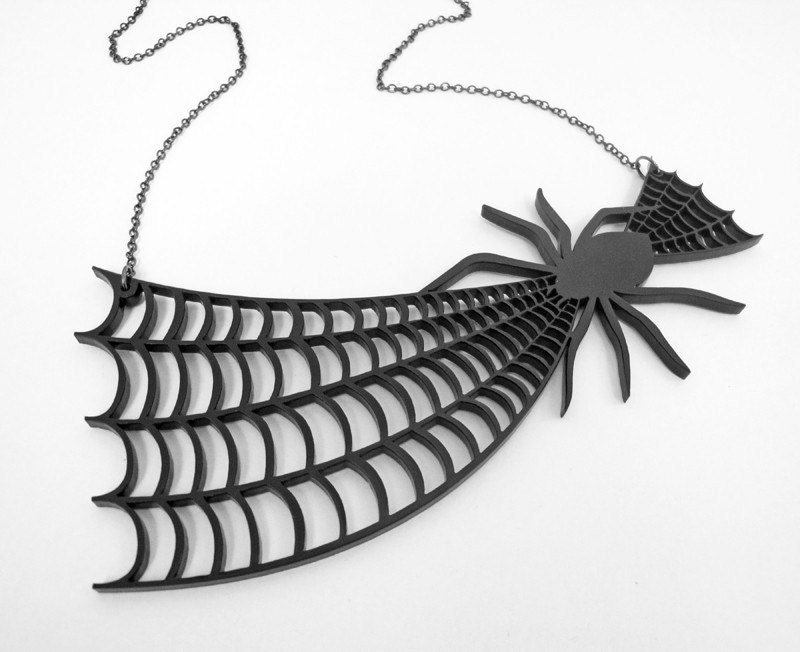 Will you walk into my parlor, said the Spider to the Fly Necklace - Laser Cut Acrylic (C.A.B. Fayre ORIGINAL DESIGN)