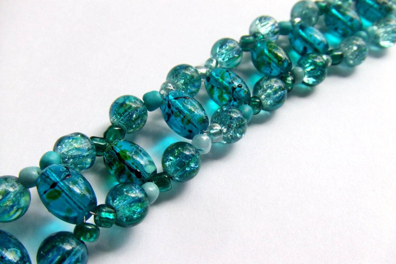 Aquamarine Cuff Bracelet - BraceletsbyLinda