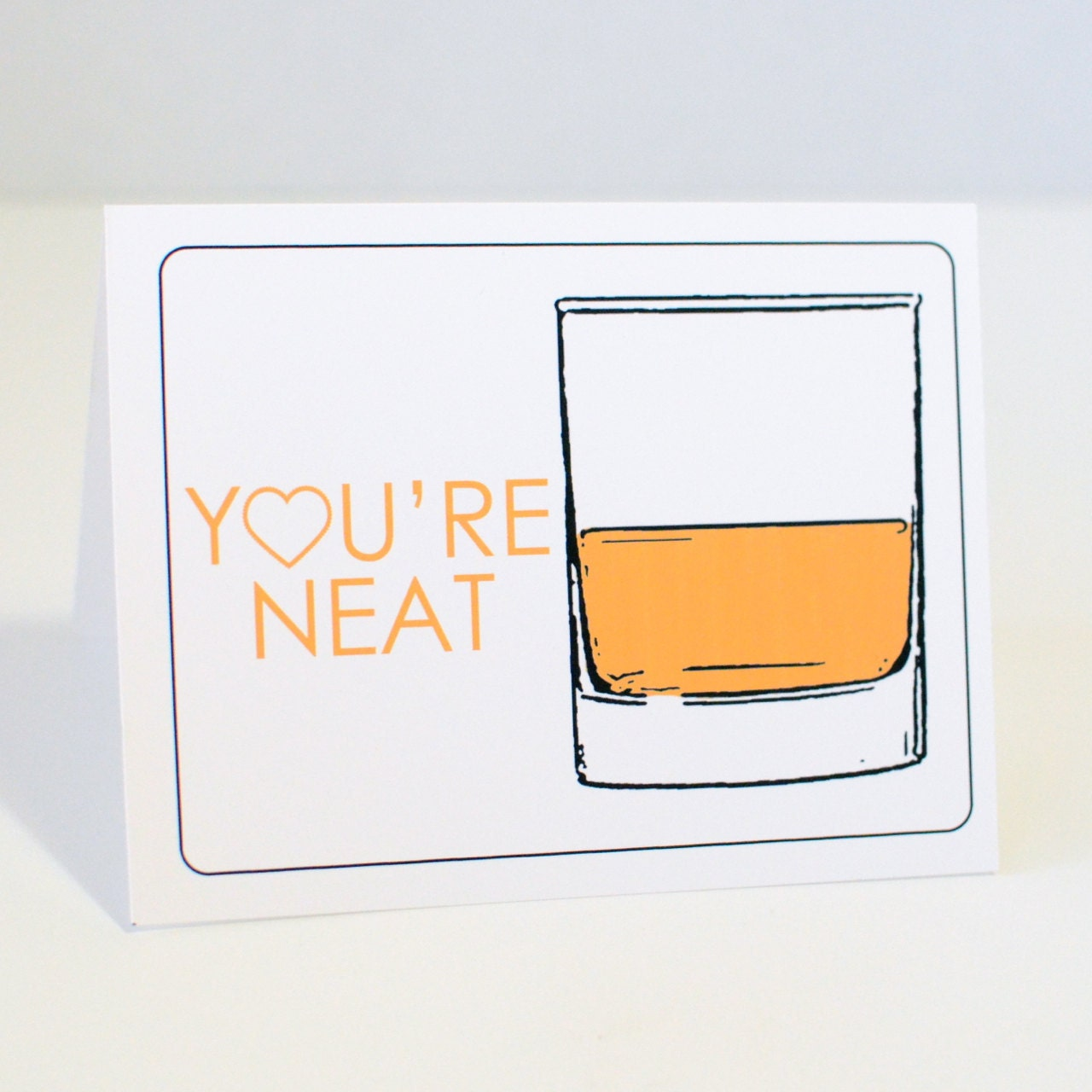 Funny Birthday Day Card, You're Neat, Whiskey, Cards For Men, 247 team