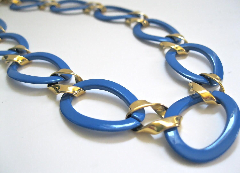 blue monet vintage necklace