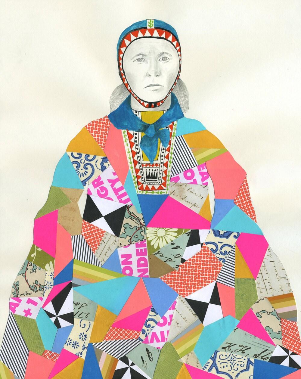 Sami Woman Print