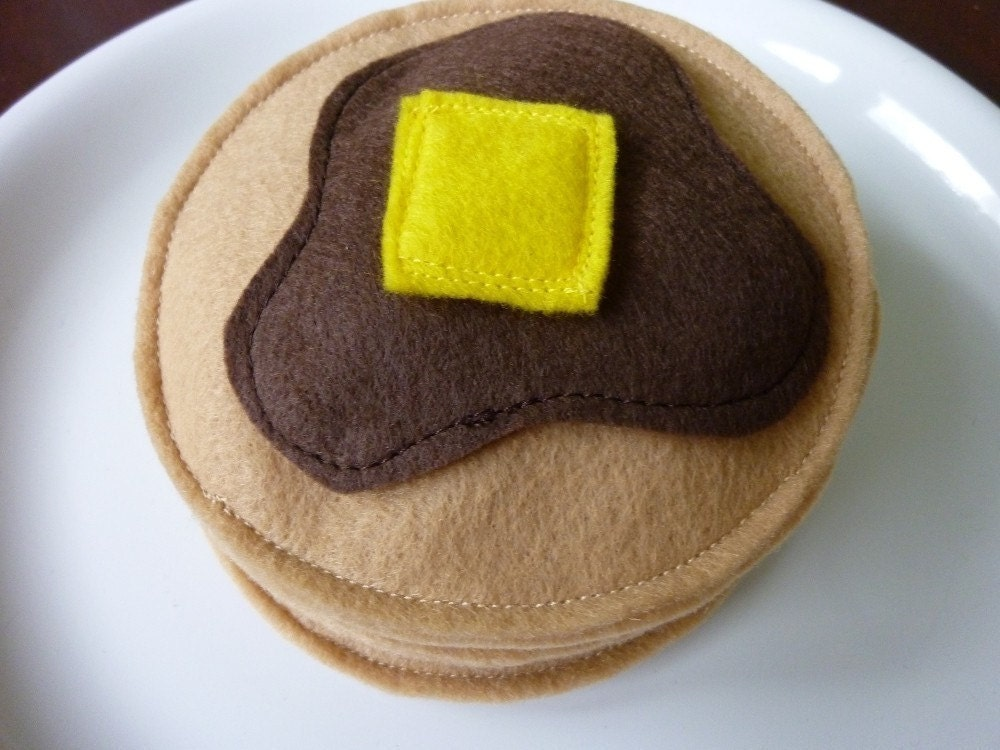 Short Stack Pancakes - Felt Play Food