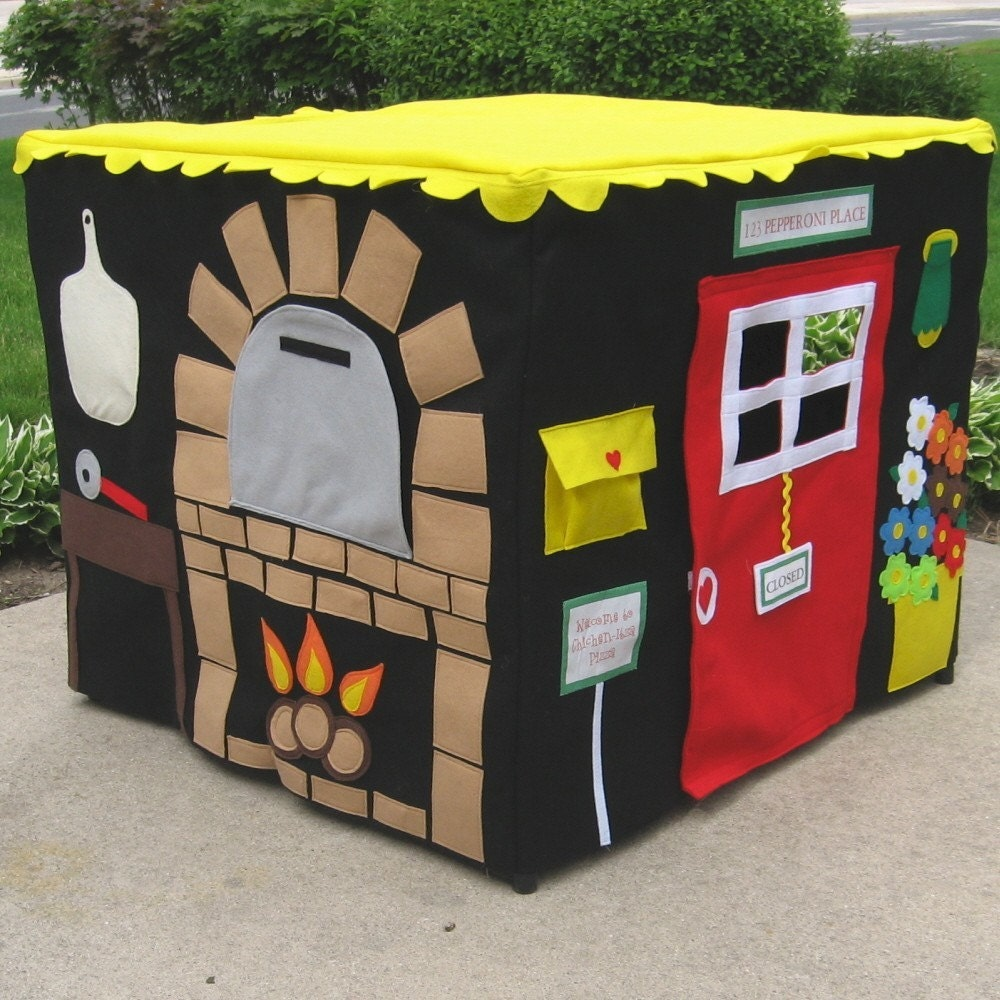Pizza Parlor, Card Table Playhouse, Personalized, Custom Order