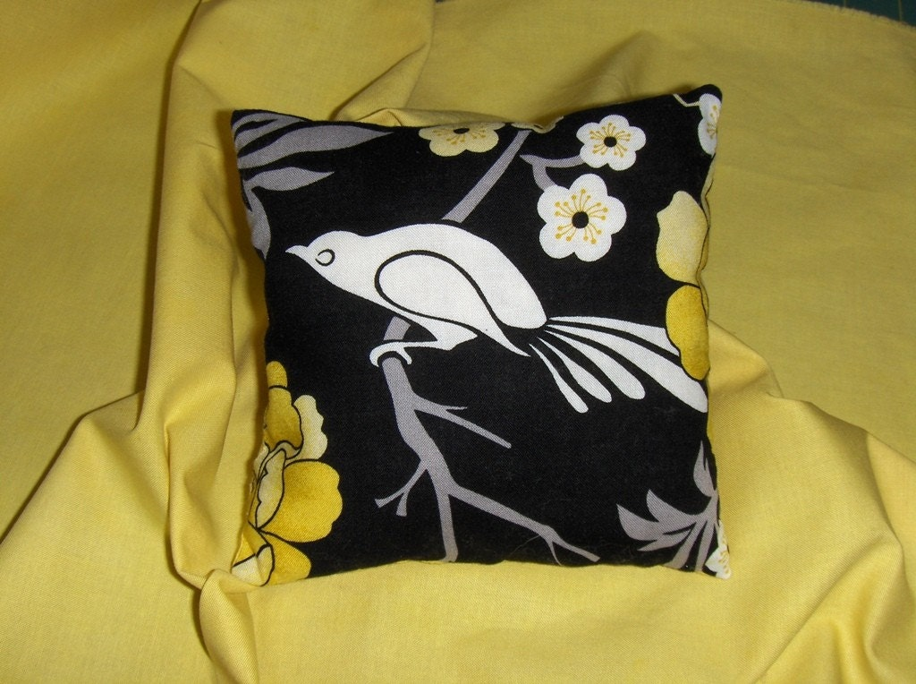 On Sale--A Little Bird in the Peonies Told Me So-Mini PIllow--On Sale