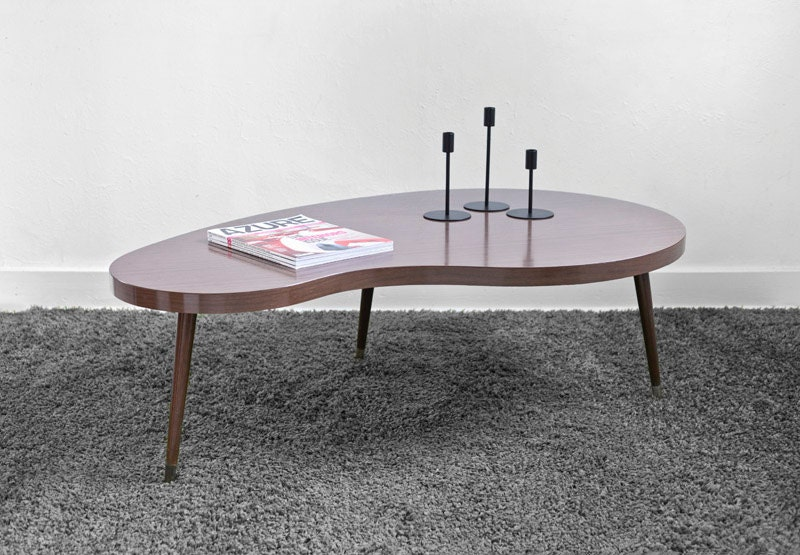 Vintage Kidney Coffee Table - Mid Century, Modern, Wood, Retro, Boomerang - Hindsvik
