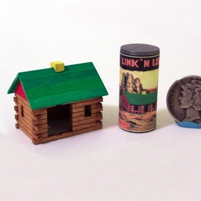 Miniature Dollhouse Log Cabin Toy - TwelfthDimension