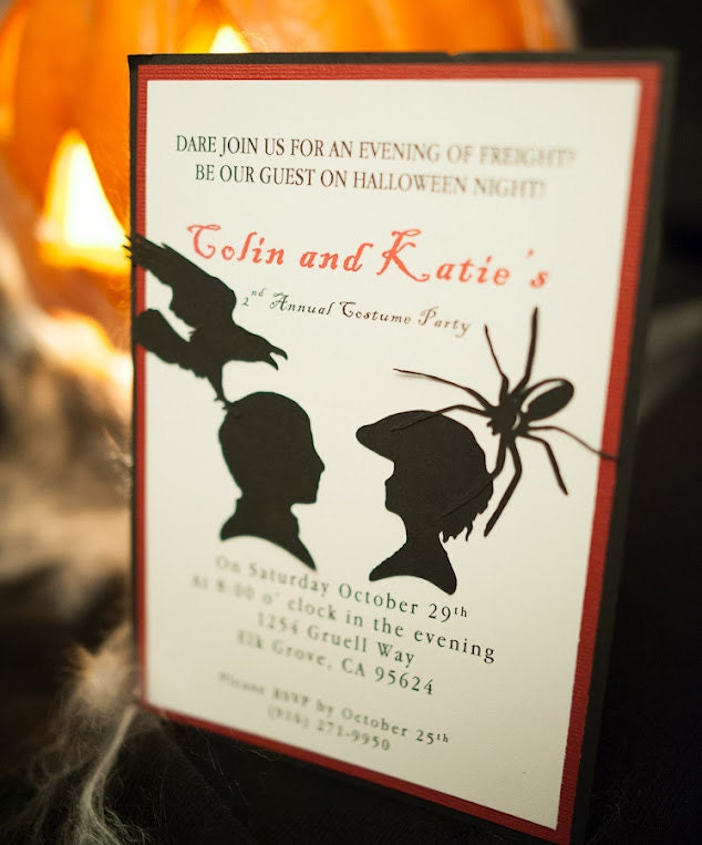 Handmade Halloween Invitation