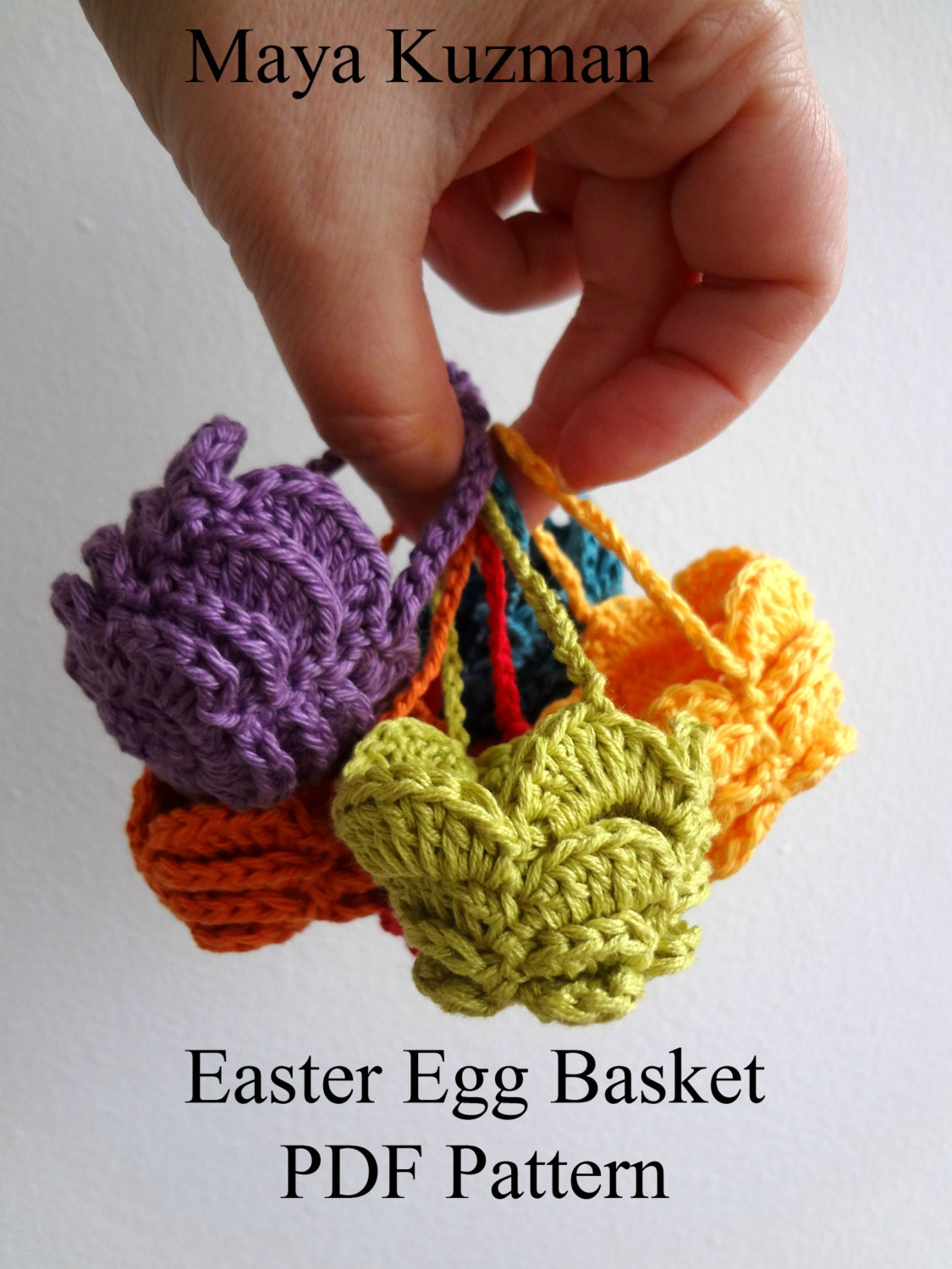 Easter Egg Crocheted Basket -  egg cozy - PDF Pattern - photo tutorial, sell what you make - sewella