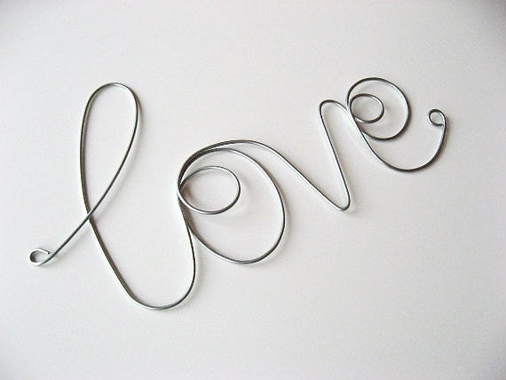 Inspirational - LOVE - Wire Wrapped Sign, Great Gift Idea - AntoArts