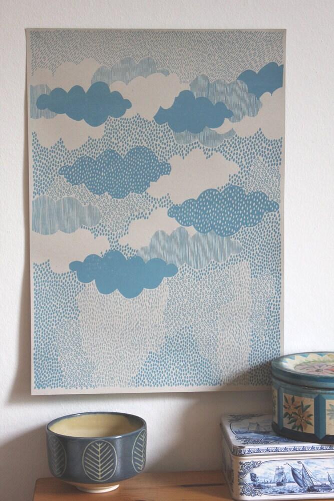 Rain - Screen Print