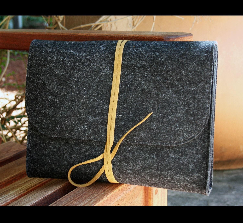 Pure merino wool felt portfolio - fits Ipad and books - AlexMLynch