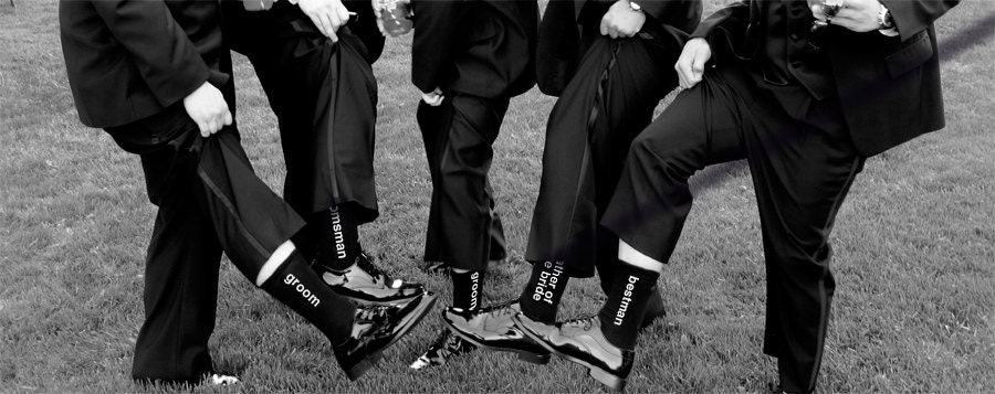 Found Ridiculously Cute Socks for the Groom/BM/GMs/Etc