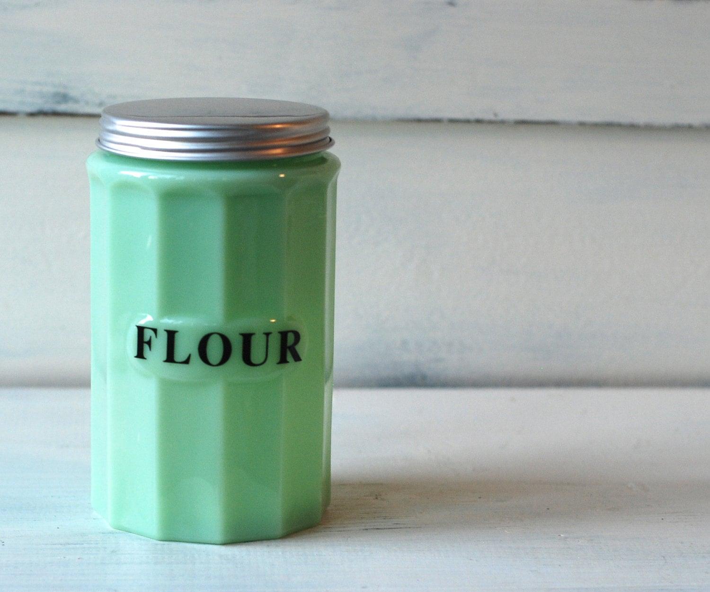 Vintage Jadeite Flour canister