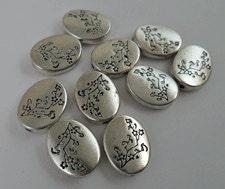 10 Tibetan Silver spacer beads