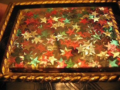Vintage Dorset 5th Ave Stars Confetti Compact