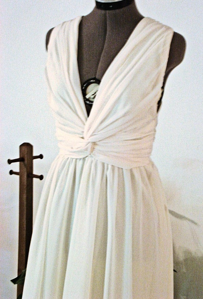 100 Silk Short Grecian Wedding Dress by Sash Couture From SashCouture1