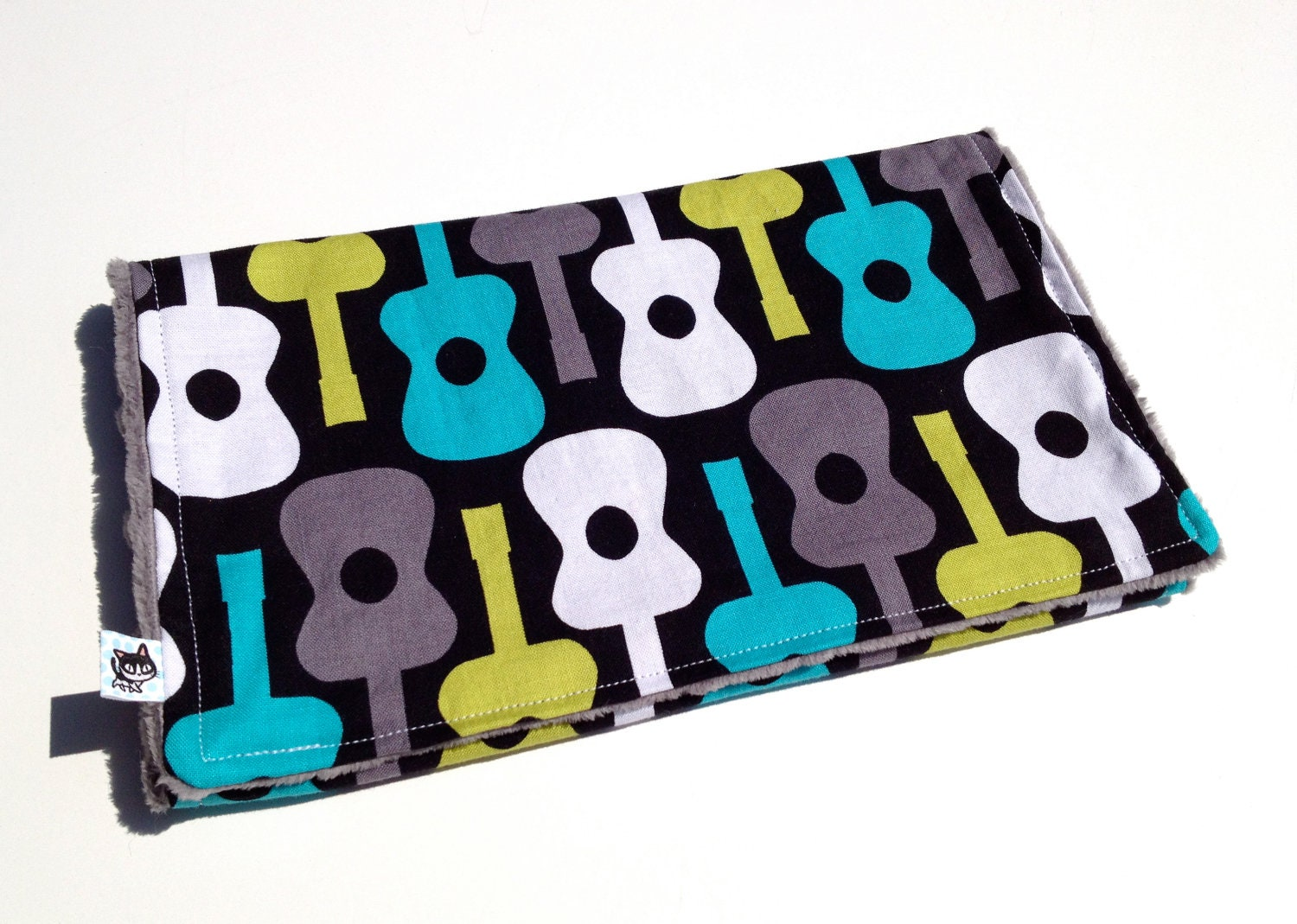 Groovy Guitar Burp Cloth / Rock Star Baby Boy / One A la Carte Single / Gender Neutral - SSKDesigns