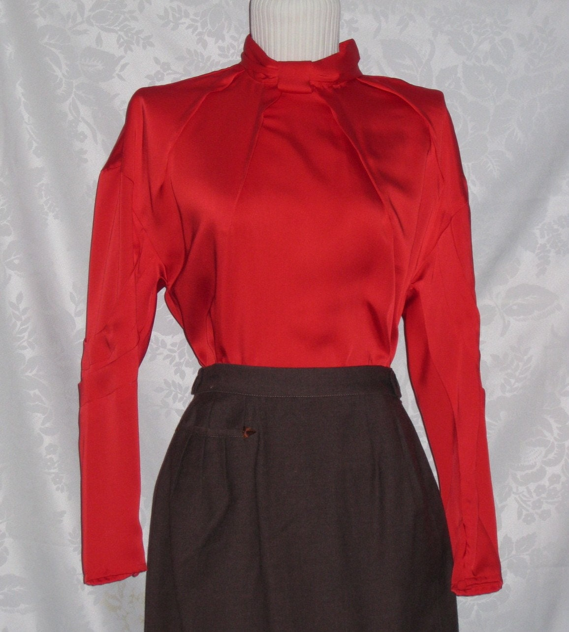 Vintage Satin Blouse