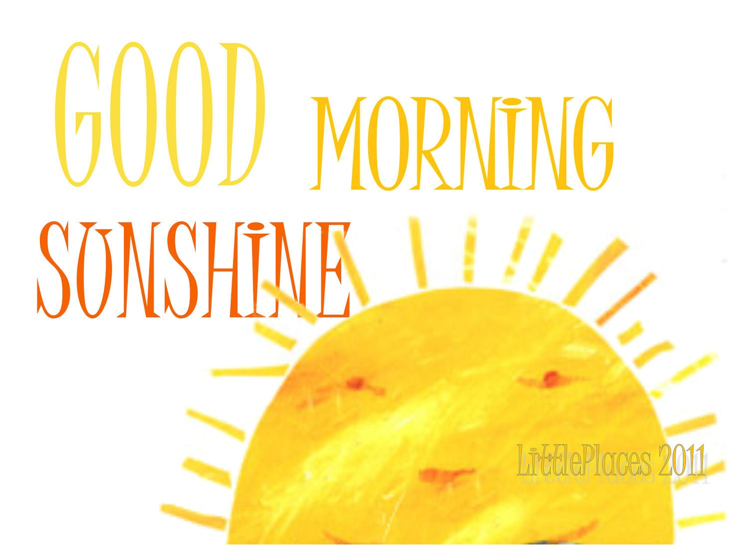 Good Morning Sunshine Letter : Limezinnias design good morning sunshine