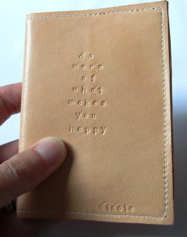 Leather notebook with custom text - Nicollie