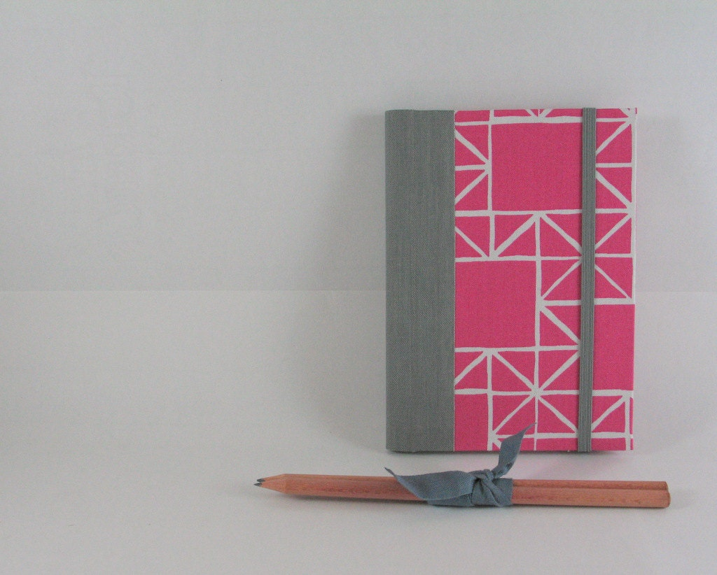 2013 Weekly Agenda Planner - Fuschia, White, Grey blocks - Made to order - A6 / small size