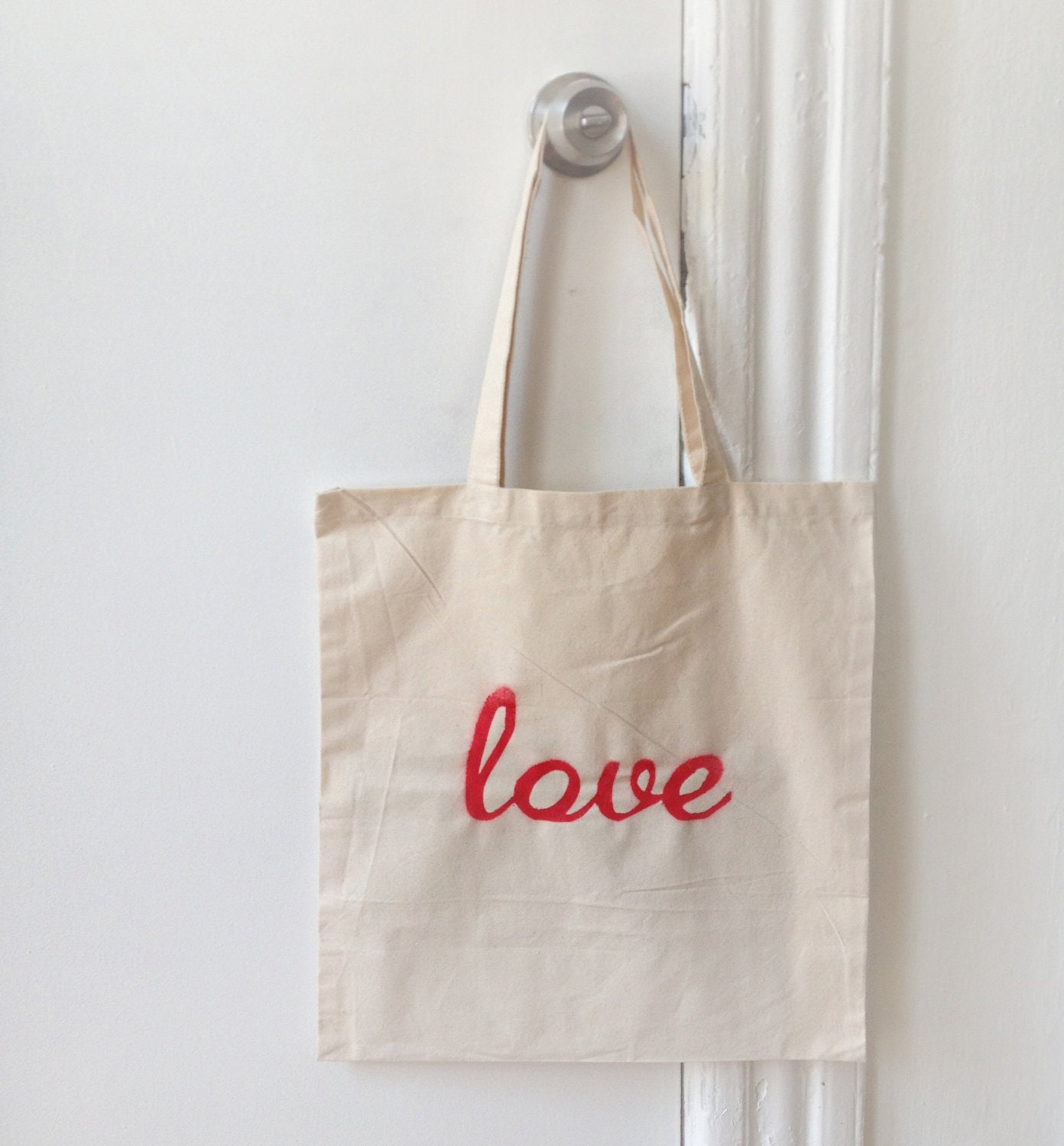 Red Love Tote Bag - hellosleepywhale