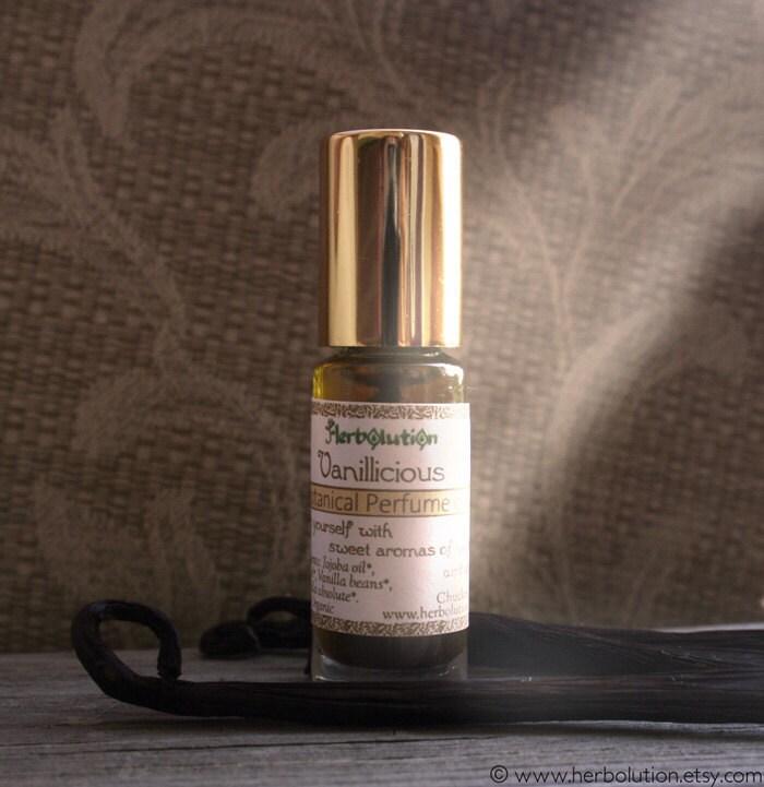 Organic Vanilla Perfume Oil - Botanical Vegan Perfume with Natural aroma - Vanillicious