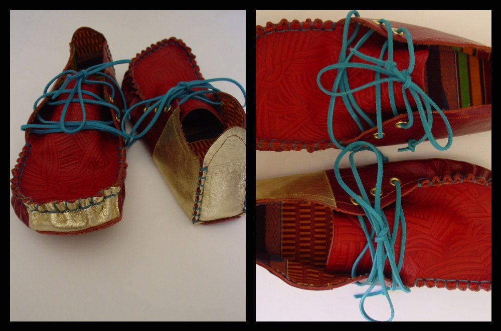 23 TRIBES - custom made  leather moccasins
