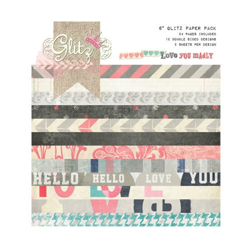 Love You Madly 6x6 Paper Pad from Glitz