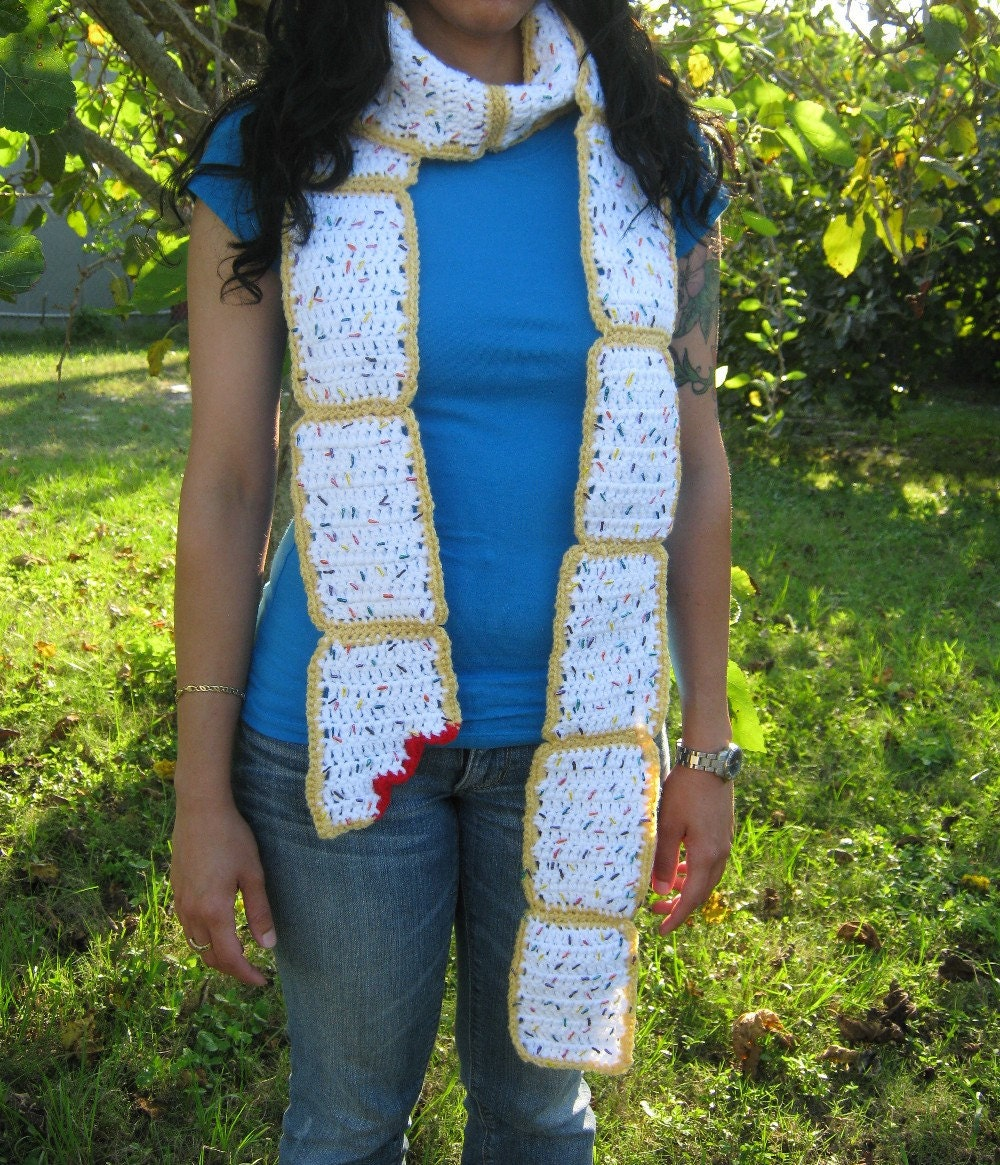 Strawberry Poptart Scarf by PinkFrog4U on Etsy from etsy.com