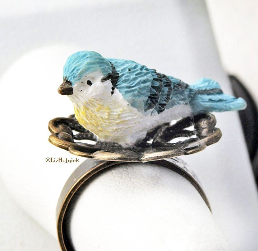 Blue Birdie Ring
