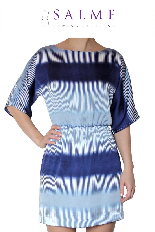 PDF Sewing pattern - Kimono sleeve dress