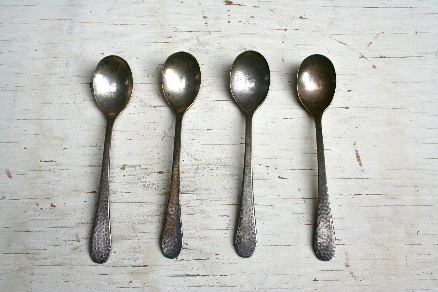 Four Antique Spoons - LoveliesShop