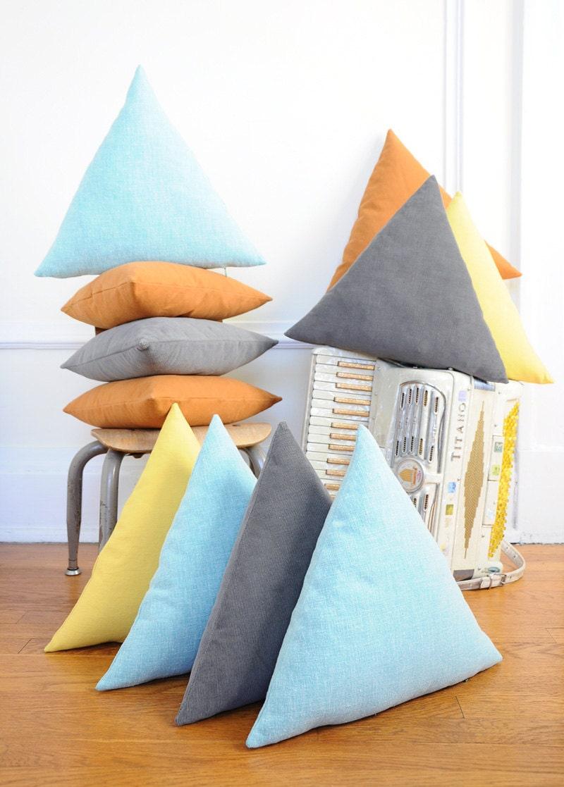 Triangle Pillow - GREY Corduroy - imaginaryanimal