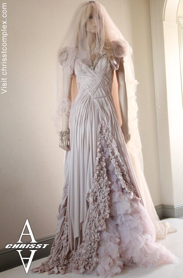 Wedding Dress Gothic Bride SteamPunk Fashion Fantasy