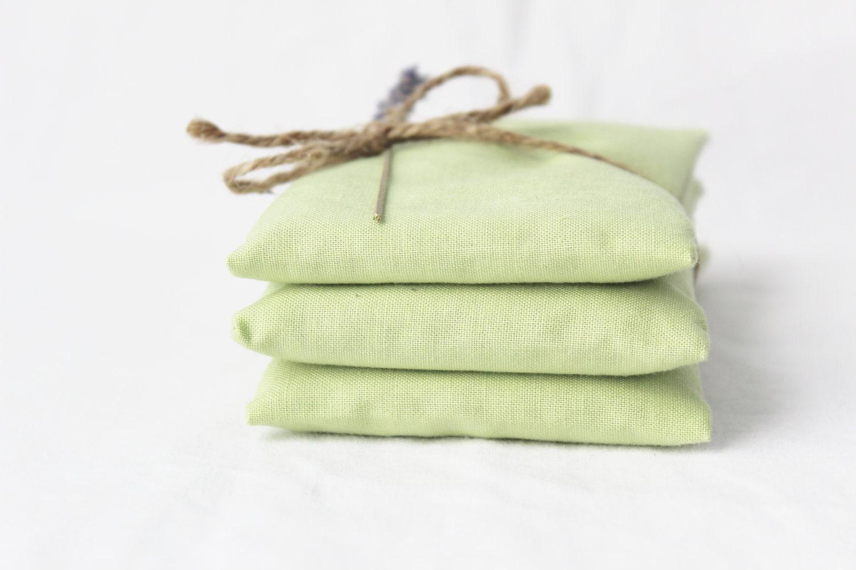 Pastel Green Sachets, Organic Lavender, Green Tea, Elegant