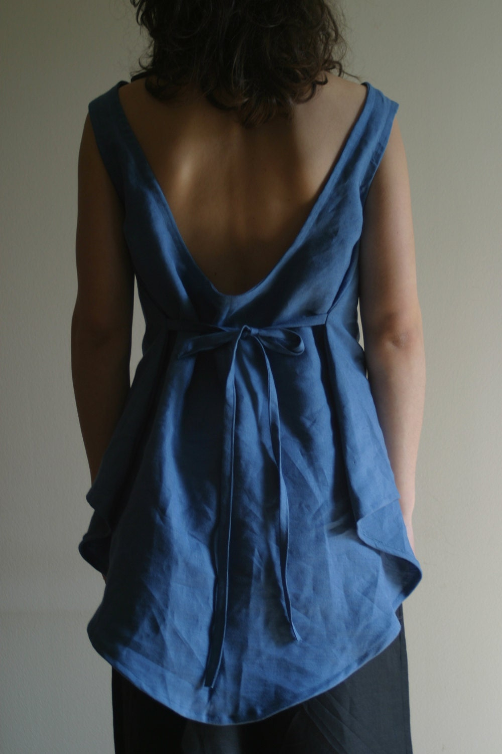 Asymmetrical Wide Top in Blue by NervousWardrobe on Etsy