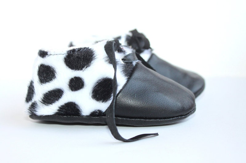 3-6 Months Slippers / Baby Shoes Lamb Leather
