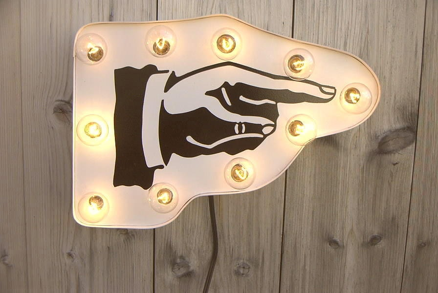 Arrow hand sign marquee light - HitandMissLimited