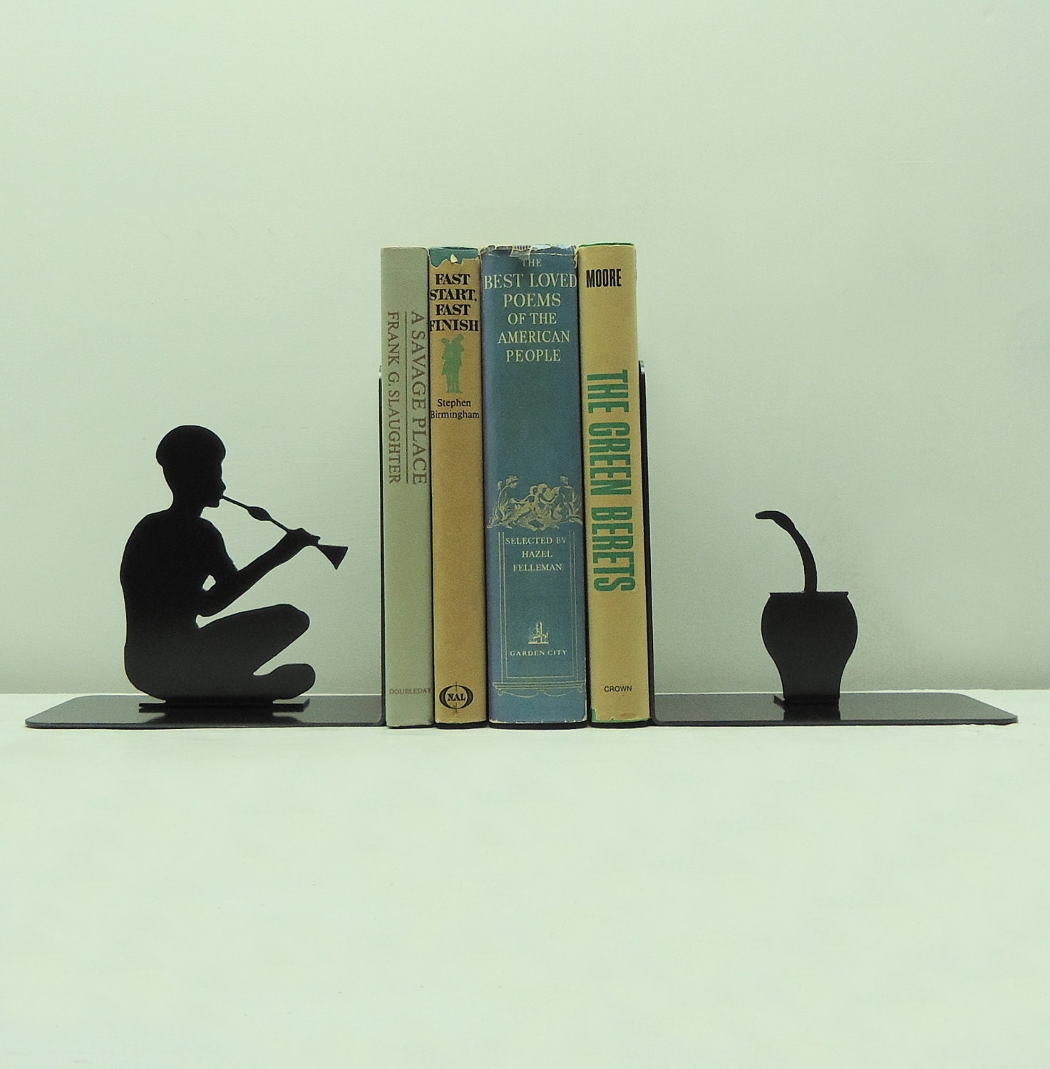 Snake Charmer Metal Art Bookends - Free USA Shipping