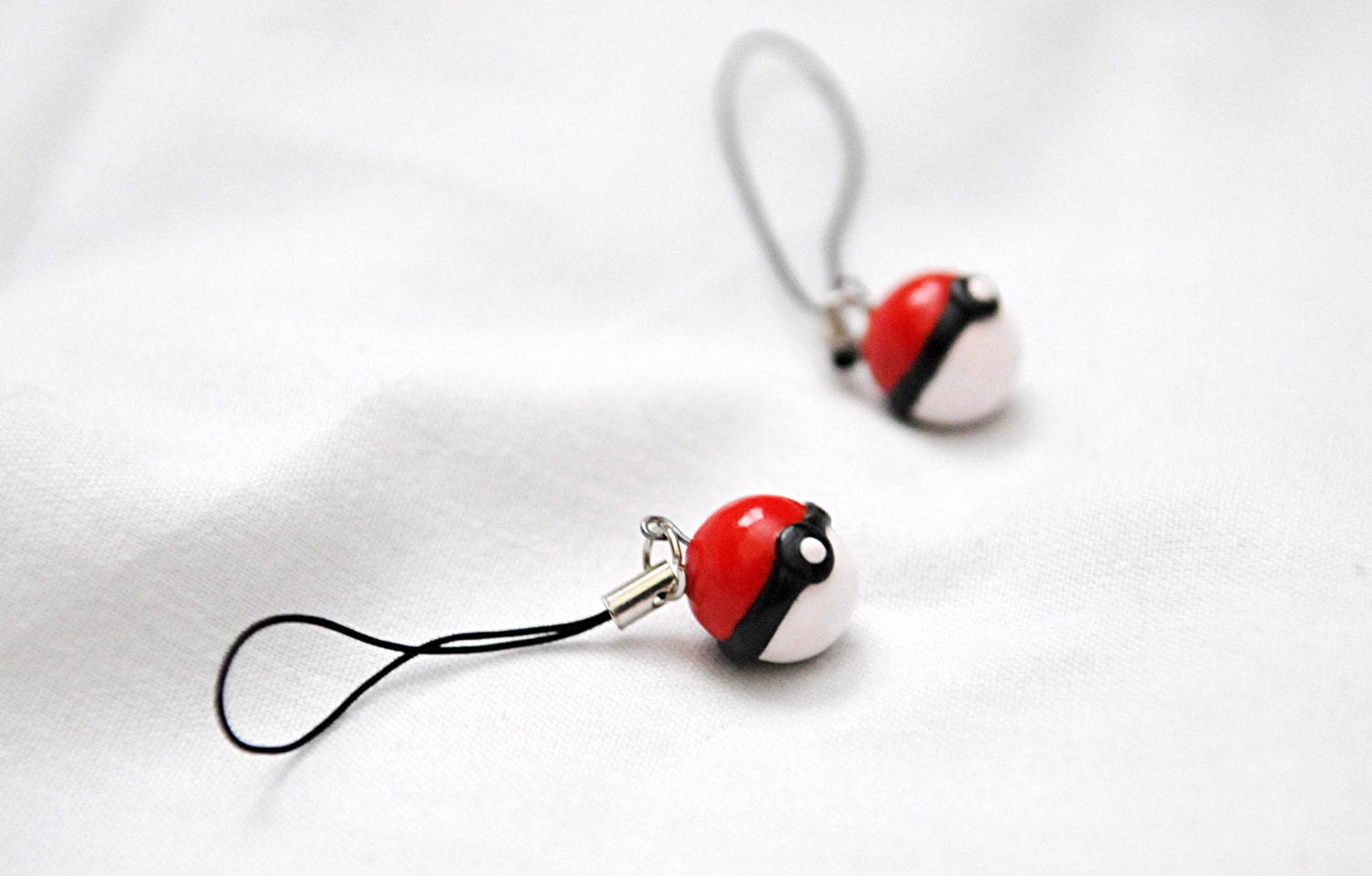 Miniature Pokemon Pokeballs Polymer Clay--Charm or Earring - GraceByGrace