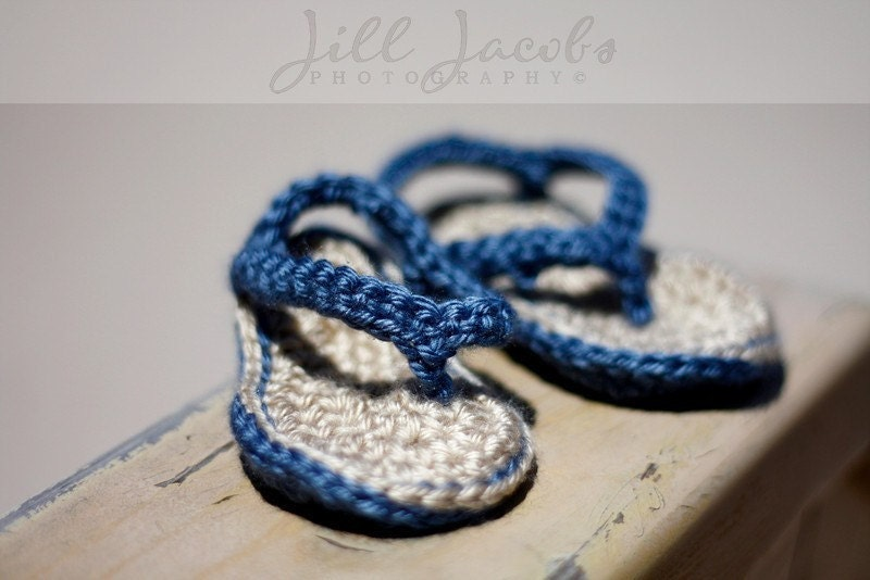 Crochet Fuzzy Flip-Flops - Myra Wood Originals