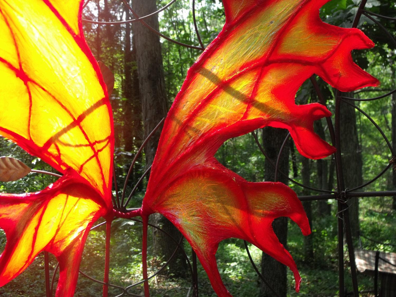OOAK Iridescent Fire Fairy Wings Cosplay Renaissance Halloween Red Yellow Phoenix