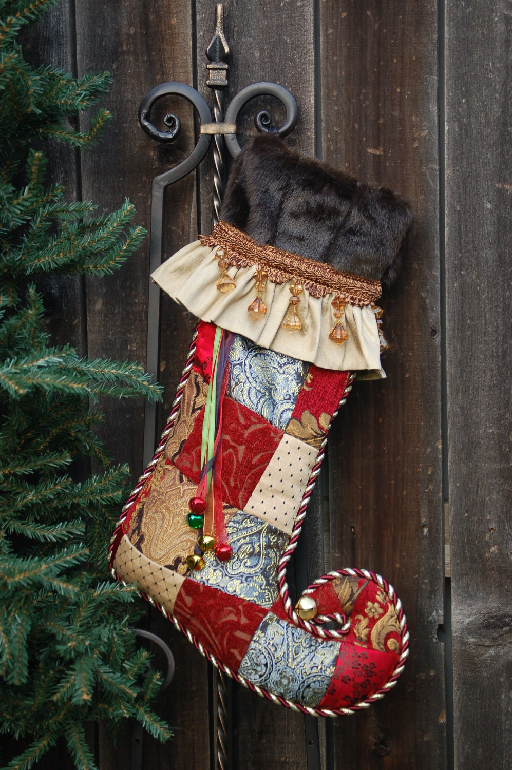 Harlequin Christmas stocking 1017