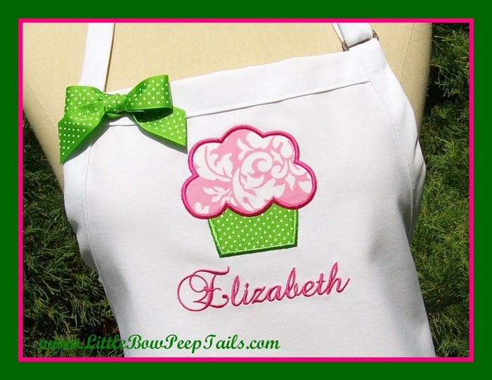 Applique Embroidered Personalized Womens Lime Green Hot Pink Elegant