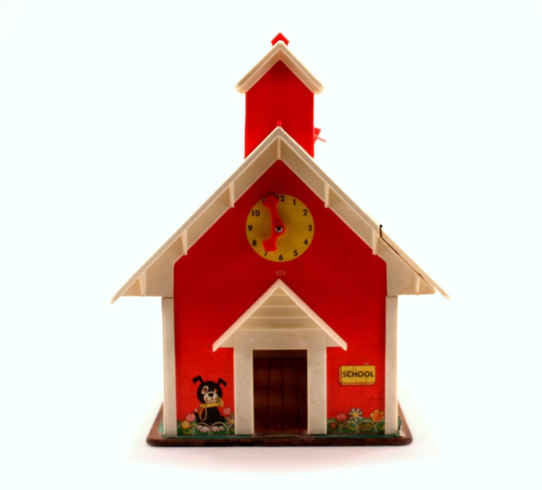 Vintage Fisher Price School House - KidsCornerVintage