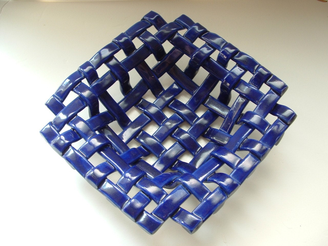 Square Woven Bowl With Holes