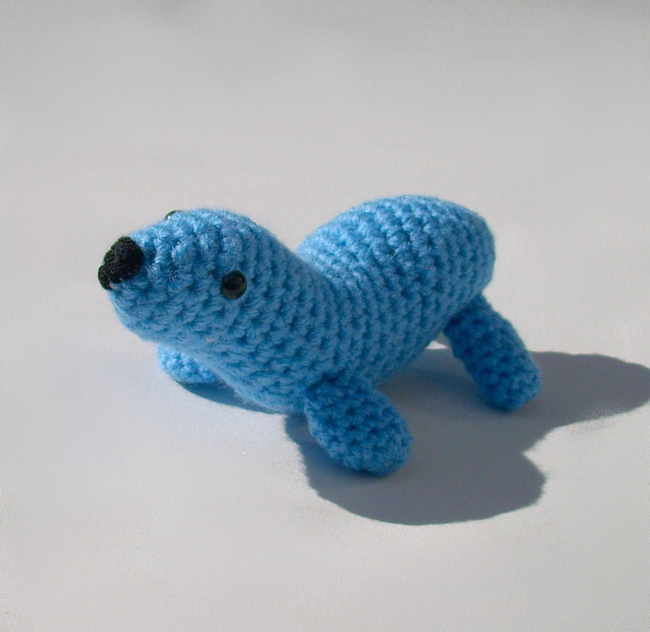 Crochet Amigurumi Seal : Amigurumi crochet seal sea lion animal plush toy critter ...